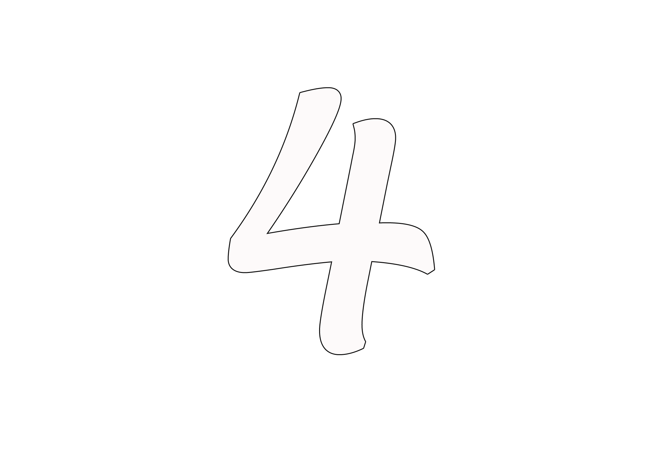 el número 4